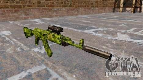 Автомат АК-47 тактический для GTA 4
