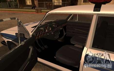 ВАЗ 2106 ДПС для GTA San Andreas вид справа