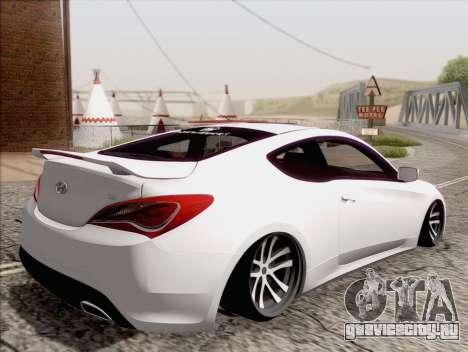 Hyundai Genesis Stance для GTA San Andreas вид слева