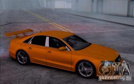 Audi A8 2010 для GTA San Andreas вид справа