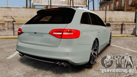 Audi RS4 Avant для GTA 4 вид сзади слева