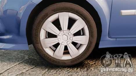 Renault Clio III Phase 2 для GTA 4 вид сзади