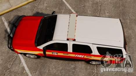 Chevrolet Tahoe Fire Chief v1.4 [ELS] для GTA 4 вид справа