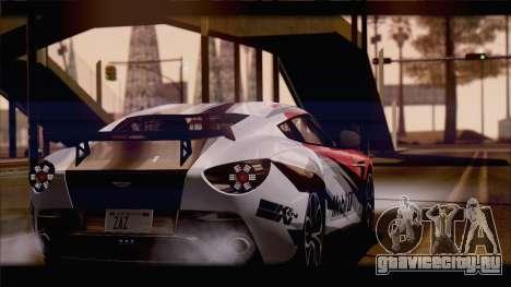 Aston Martin V12 Zagato 2012 [HQLM] для GTA San Andreas вид слева