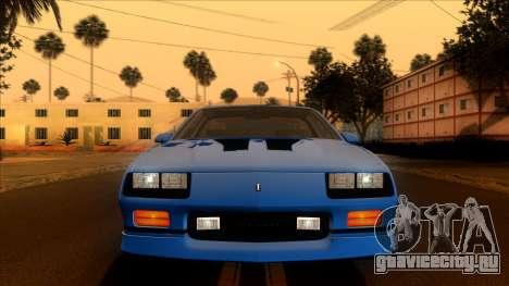 Chevrolet Camaro IROC-Z 1990 для GTA San Andreas вид сбоку