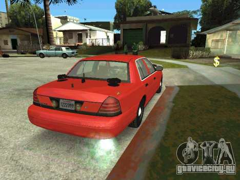 Ford Crown Victoria Unmarked Police для GTA San Andreas вид слева