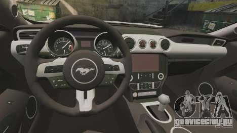 Ford Mustang GT 2015 Sticker Bombed для GTA 4 вид справа