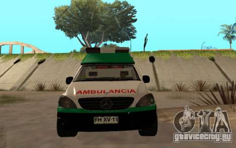 Mercedes-Benz Vito Ambulancia ACHS 2012 для GTA San Andreas вид изнутри