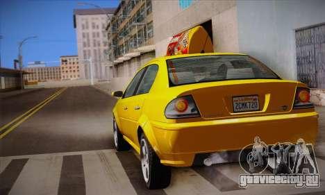 Declasse Premier Taxi для GTA San Andreas вид сбоку