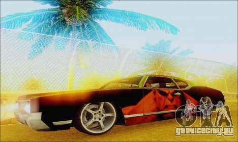 Modified Sabre Low для GTA San Andreas вид слева