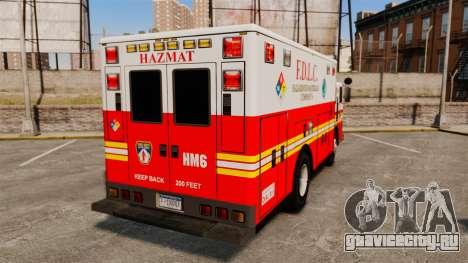 Hazmat Truck FDLC [ELS] для GTA 4 вид сзади слева