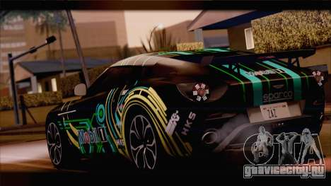 Aston Martin V12 Zagato 2012 [HQLM] для GTA San Andreas вид сзади
