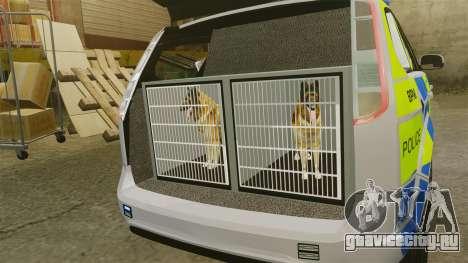 Ford Focus Estate Metropolitan Police [ELS] для GTA 4 вид сзади