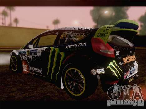 Ford Fiesta RS WRC 2013 для GTA San Andreas вид сбоку