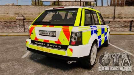 Range Rover Sport Metropolitan Police [ELS] для GTA 4 вид сзади слева