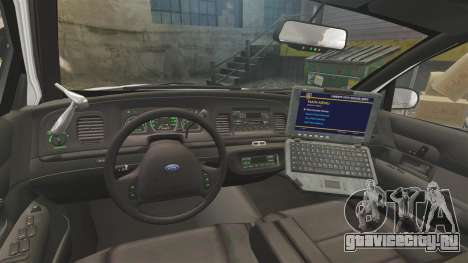 Ford Crown Victoria 1999 Unmarked Police для GTA 4 вид сзади
