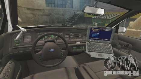 Ford Crown Victoria 1999 Unmarked Police для GTA 4 вид сзади
