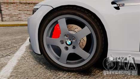 BMW M3 E92 для GTA 4 вид сзади