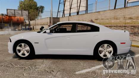 Dodge Charger RT 2012 Unmarked Police [ELS] для GTA 4 вид слева