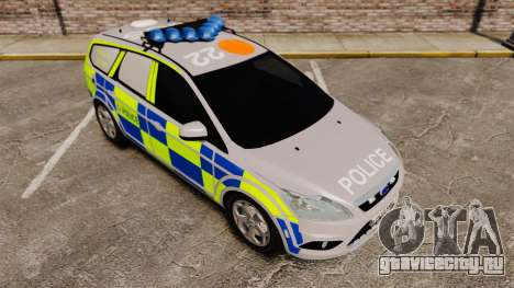 Ford Focus Estate 2009 Police England [ELS] для GTA 4 вид изнутри