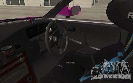 Toyota Mark 2 для GTA San Andreas вид изнутри