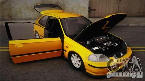 Honda Civic 1.4is TMC для GTA San Andreas вид изнутри