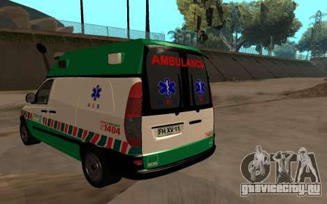 Mercedes-Benz Vito Ambulancia ACHS 2012 для GTA San Andreas вид слева
