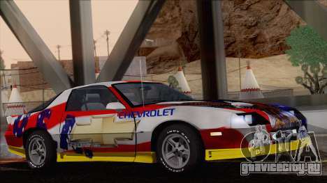 Chevrolet Camaro IROC-Z 1989 FIXED для GTA San Andreas салон