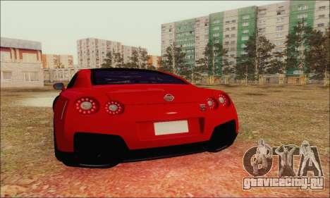 Nissan GT-R Spec V для GTA San Andreas вид сверху