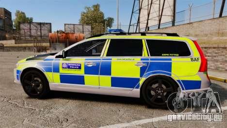 Volvo V70 Metropolitan Police [ELS] для GTA 4 вид слева