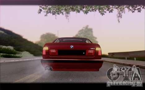 BMW E34 для GTA San Andreas вид сбоку