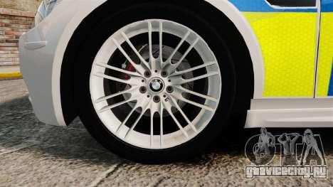 BMW M3 British Police [ELS] для GTA 4 вид сзади