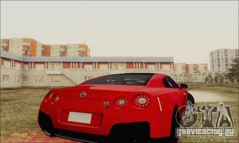 Nissan GT-R Spec V для GTA San Andreas вид сбоку