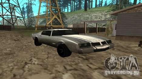 Phoenix из GTA V для GTA San Andreas вид сзади слева