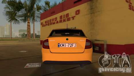 Skoda Rapid 2013 для GTA Vice City вид сзади слева