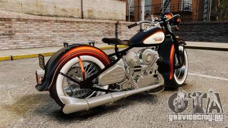 Harley-Davidson Knucklehead 1947 для GTA 4 вид слева