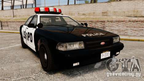 GTA V Vapid Police Cruiser LSPD для GTA 4