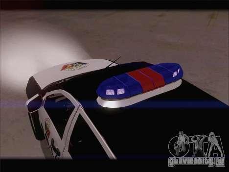 Mitsubishi L200 POLICIA для GTA San Andreas вид сбоку