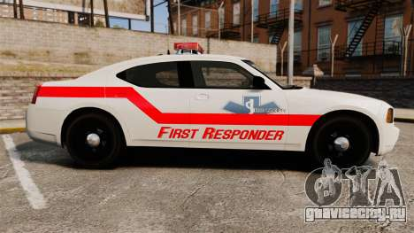 Dodge Charger First Responder [ELS] для GTA 4 вид слева