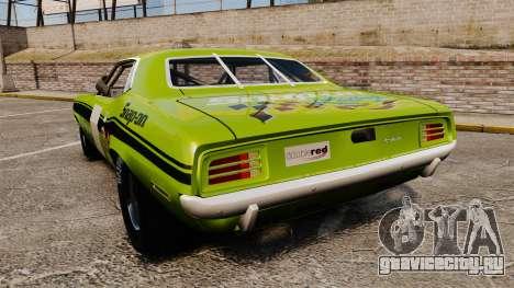 Plymouth Cuda AAR 1970 для GTA 4 вид сзади слева
