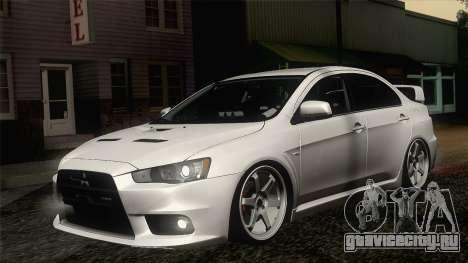 Mitsubishi Lancer X Evolution для GTA San Andreas