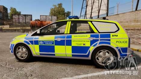 Ford Focus Estate Metropolitan Police [ELS] для GTA 4 вид слева