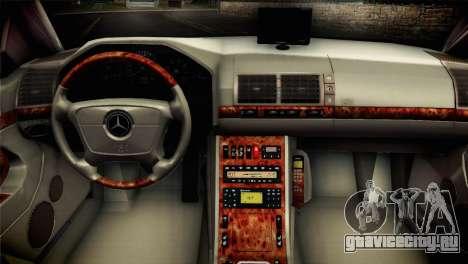 Mercedes-Benz S600 V12 V1.2 для GTA San Andreas вид сзади слева