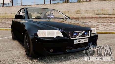 Volvo S60R Unmarked Police [ELS] для GTA 4