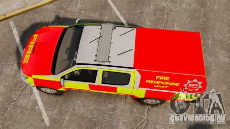 Toyota Hilux British Rapid Fire Cover [ELS] для GTA 4 вид справа