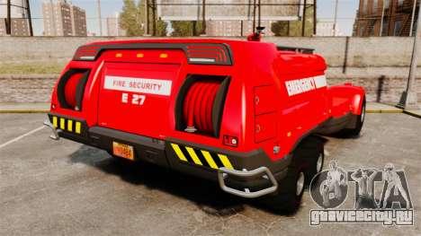 Pro Track SR2 Firetruck [ELS] для GTA 4 вид сзади слева