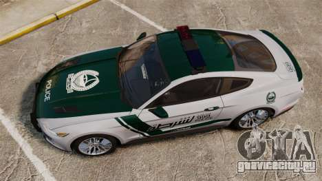 Ford Mustang GT 2015 Police для GTA 4 вид справа