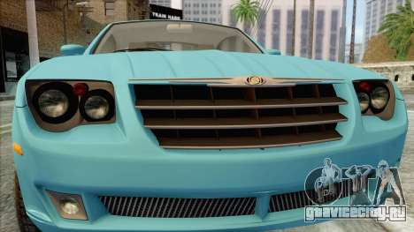 Chrysler Crossfire для GTA San Andreas вид сзади