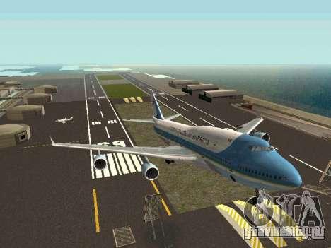 Boeing-747-400 Airforce one для GTA San Andreas вид справа