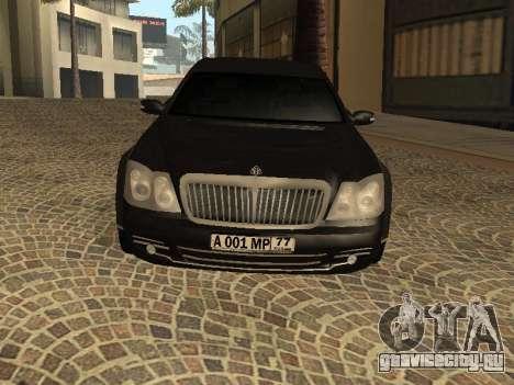 Maybach 62 V2.0 для GTA San Andreas вид слева